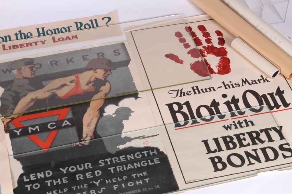 (9) WWI US LIBERTY BOND YWCA POSTERS - 4