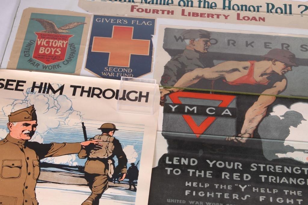 (9) WWI US LIBERTY BOND YWCA POSTERS - 5