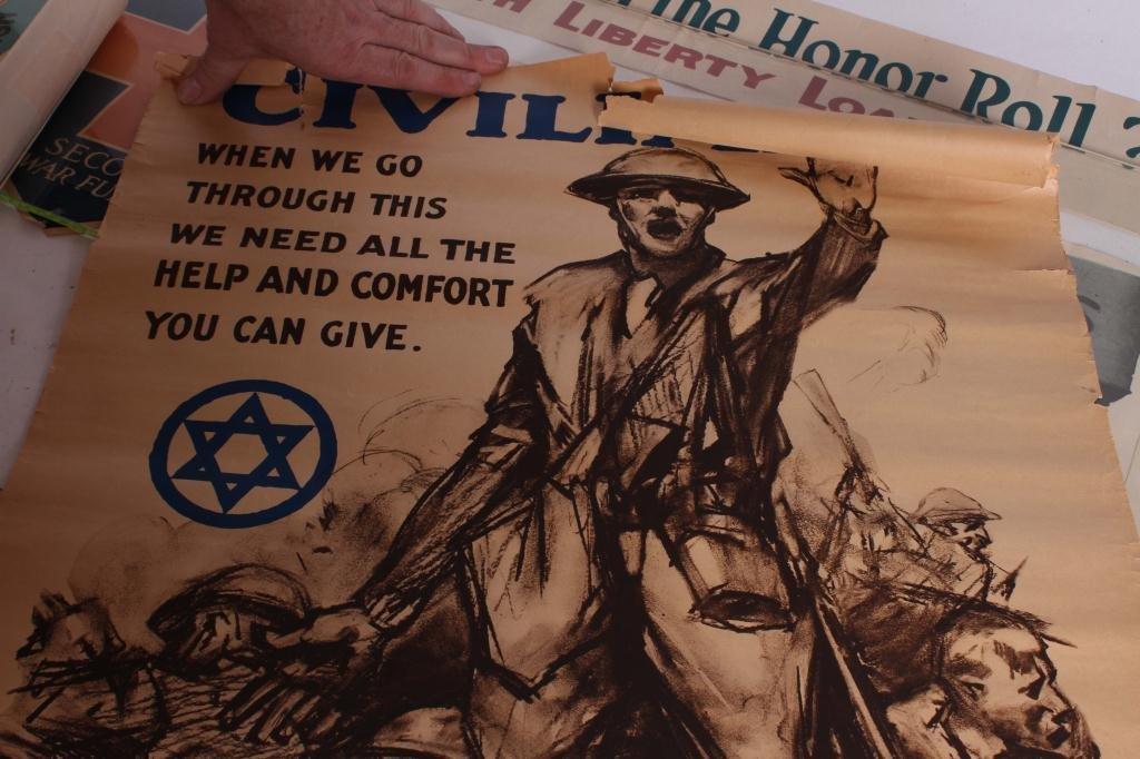 (9) WWI US LIBERTY BOND YWCA POSTERS - 7