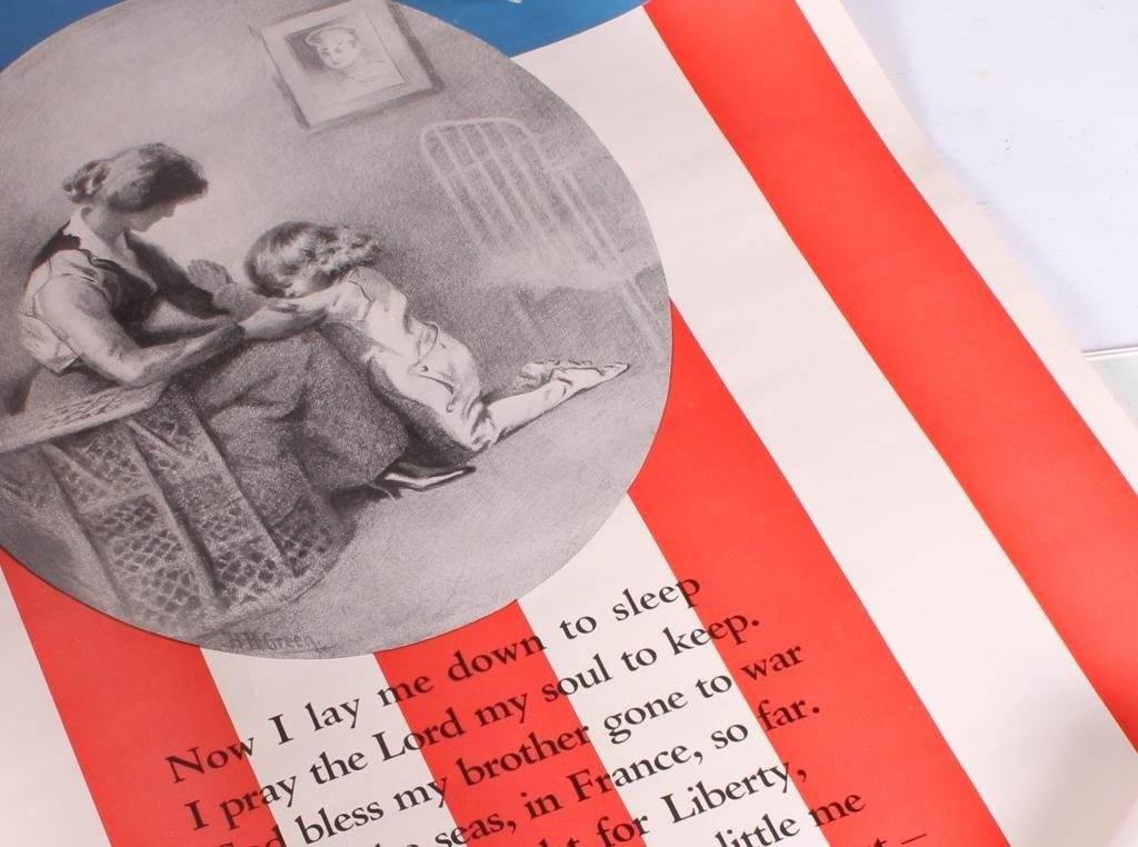 (4) WWI WAR EFFORT BONDS / YWCA POSTERS