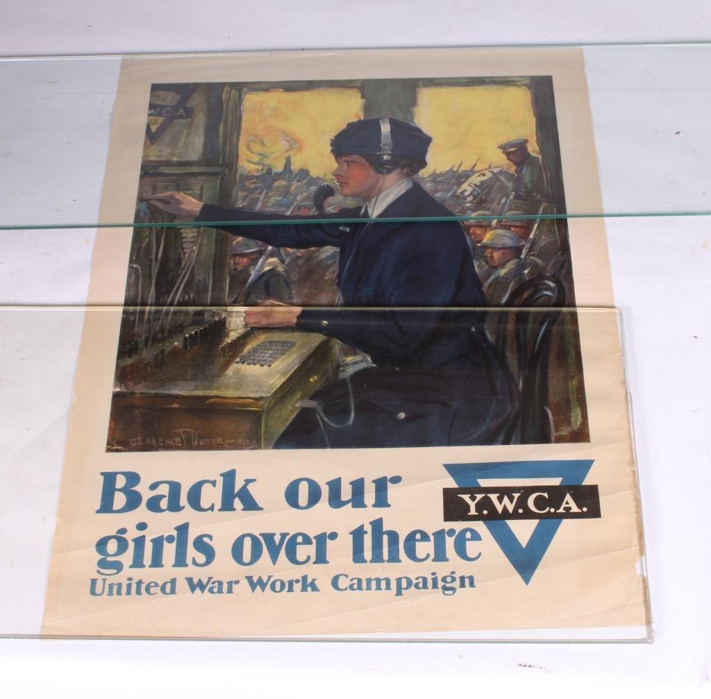 (4) WWI WAR EFFORT BONDS / YWCA POSTERS - 2