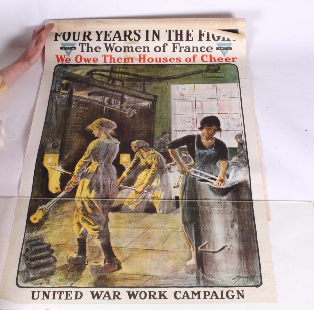 (4) WWI WAR EFFORT BONDS / YWCA POSTERS - 3