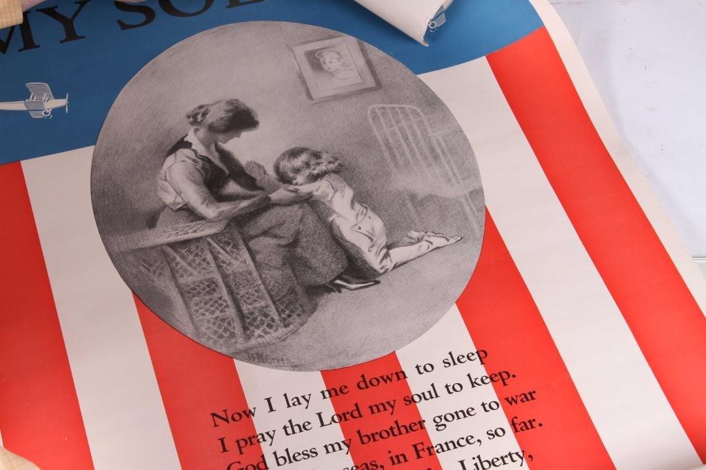 (4) WWI WAR EFFORT BONDS / YWCA POSTERS - 5