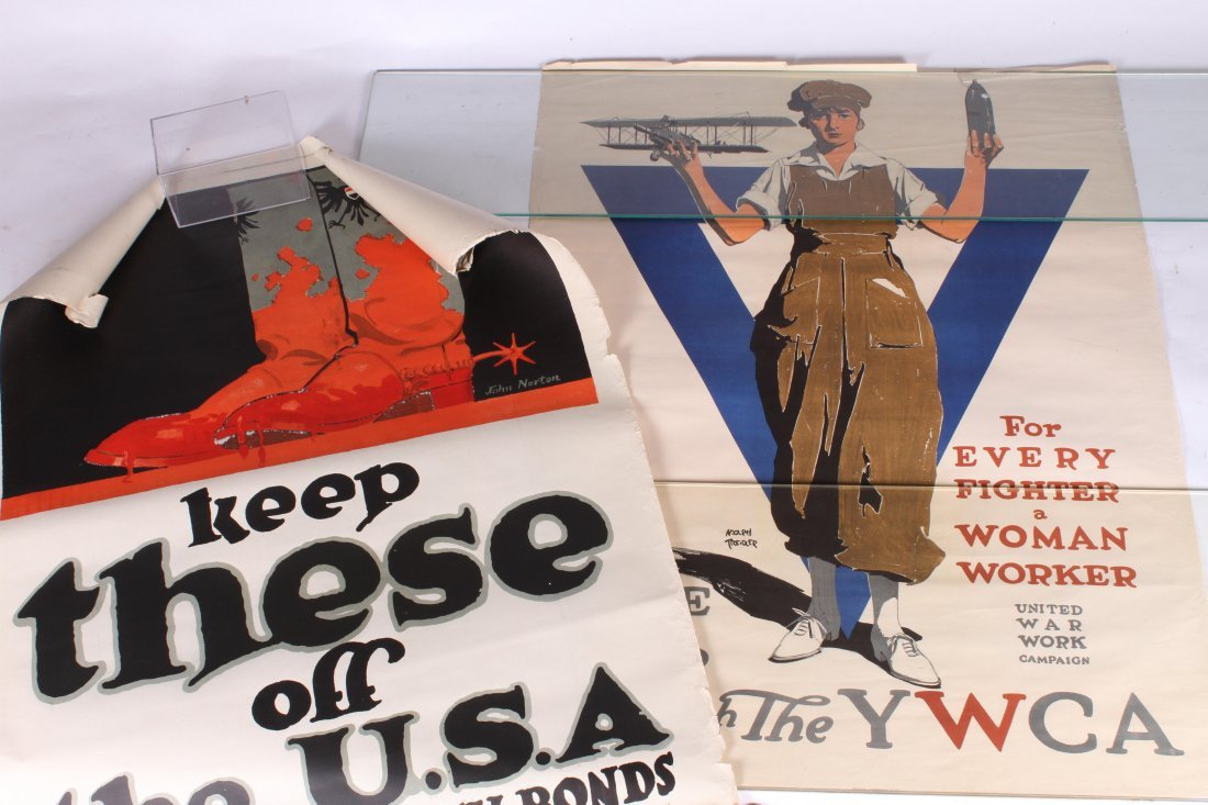(6) WWI WAR DRIVE POSTERS LEND / INVEST ETC