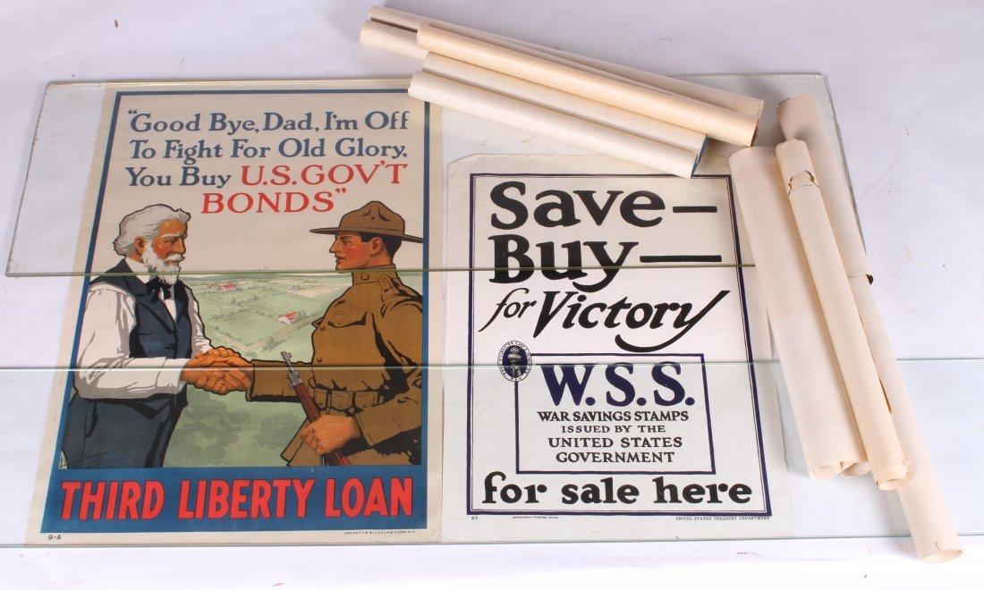 (8) WWI US LIBERTY BOND POSTERS