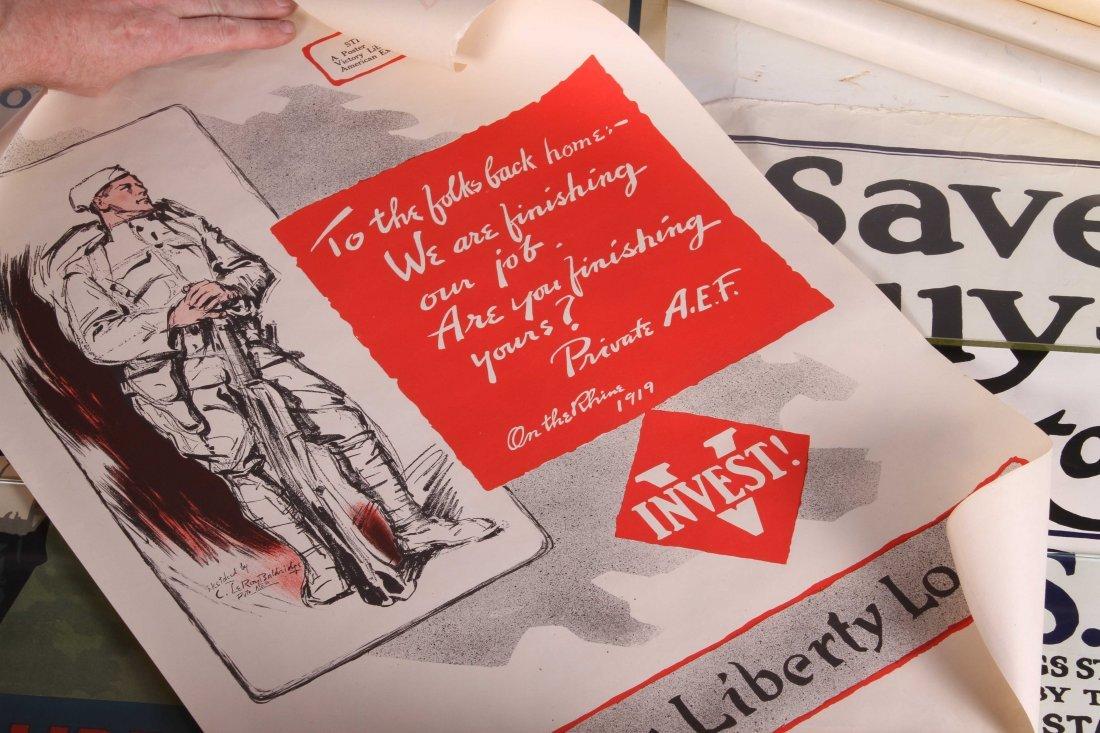 (8) WWI US LIBERTY BOND POSTERS - 4