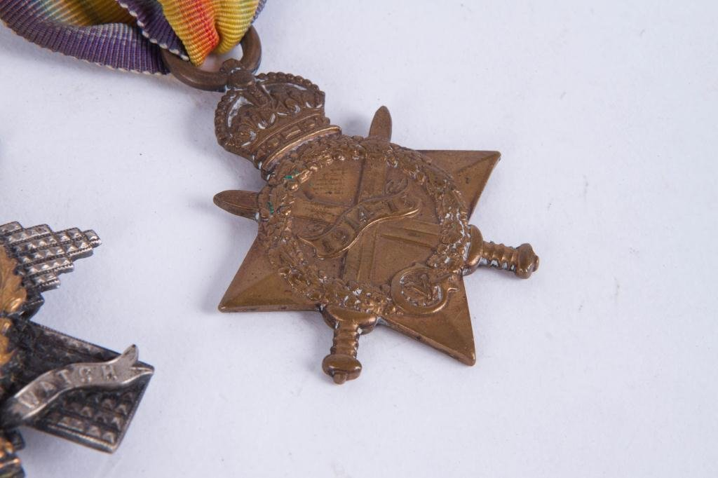 (4) MEDALS and (1)BLACK WATCH HAT BADGE - 5