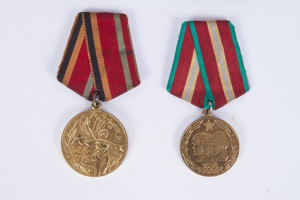 (4) SOVIET UNION RUSSIA PINS AND MEDALS - 2