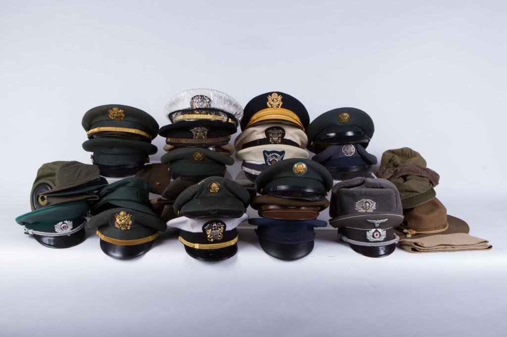 LARGE LOT OF MILITARY COVERS and HATS