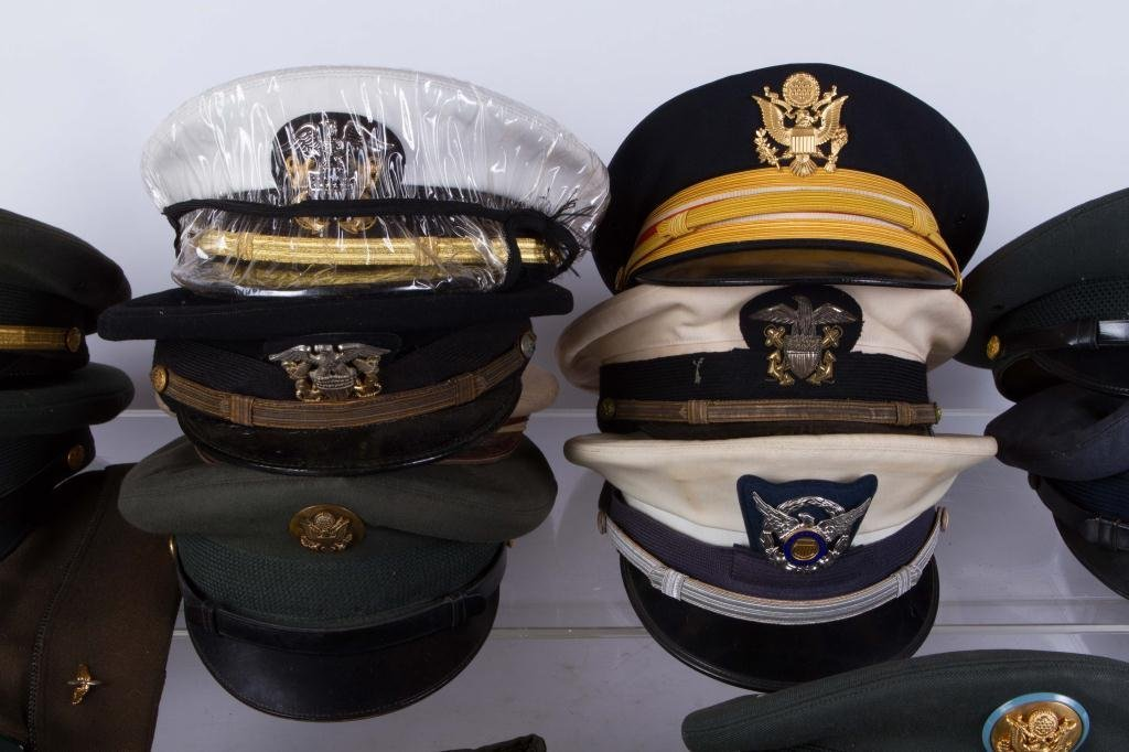 LARGE LOT OF MILITARY COVERS and HATS - 5