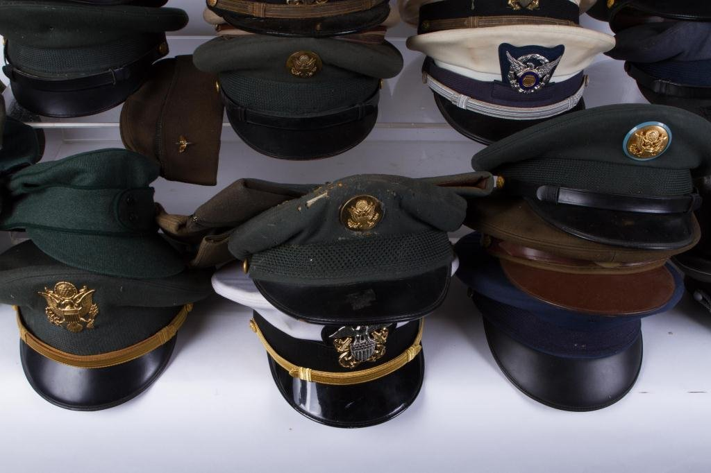 LARGE LOT OF MILITARY COVERS and HATS - 6