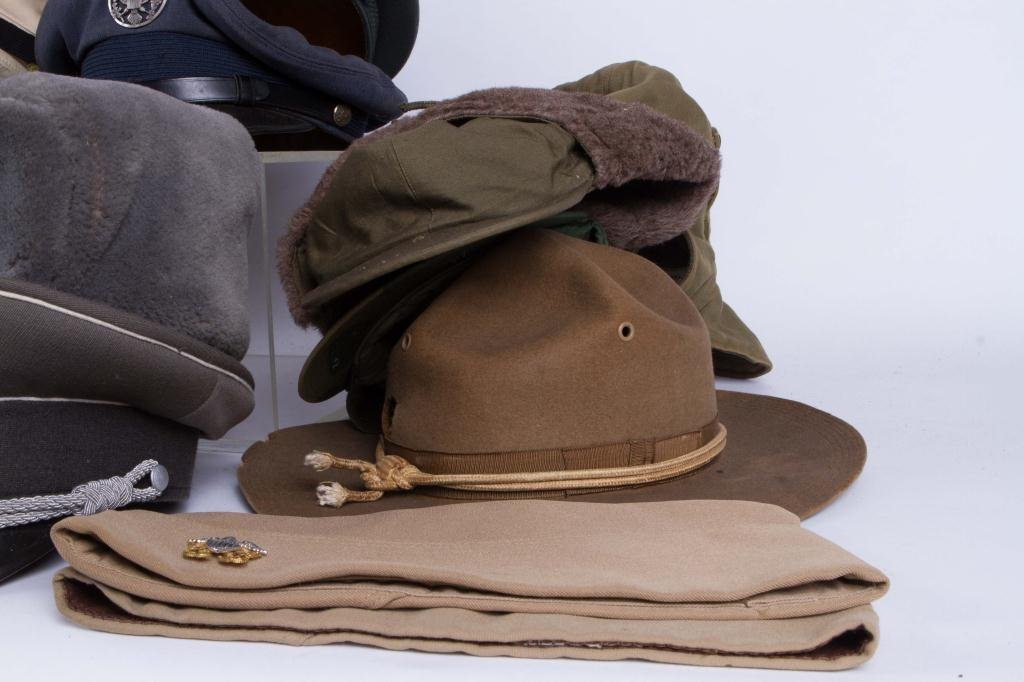LARGE LOT OF MILITARY COVERS and HATS - 7