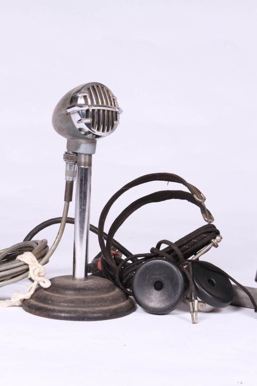 SNYDER/ WESTERN ELECTRIC MIC, TOWER HEADPHONES - 3