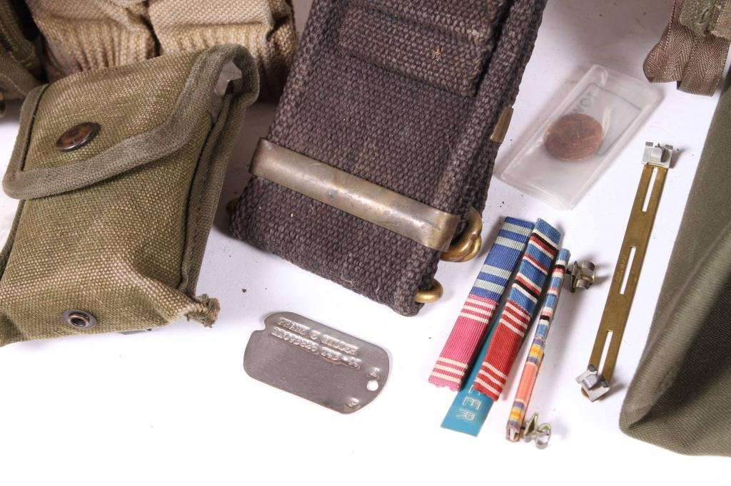 US MILITARY COVERS, POUCHES, BELTS AND RIBBONS - 2