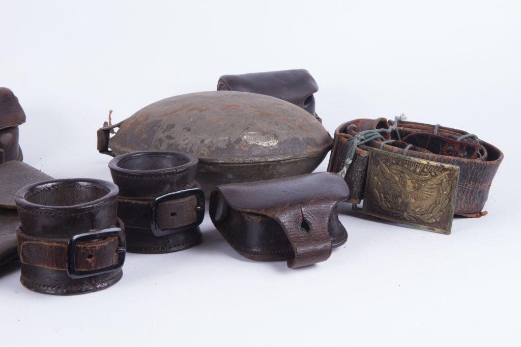 COLLECTION OF LEATHER MILITARIA ETC - 4
