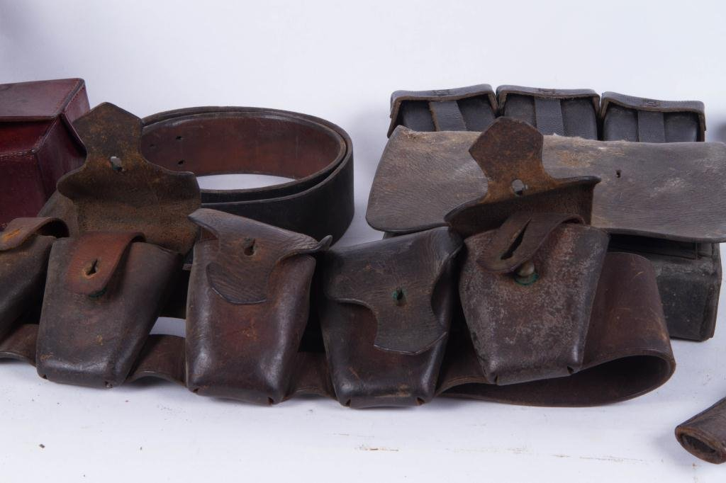 COLLECTION OF LEATHER MILITARIA ETC - 5