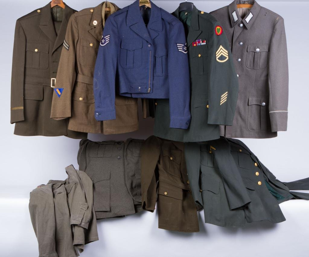 ASSORTMENT OF (10) MILITARY COATS AND JACKETS