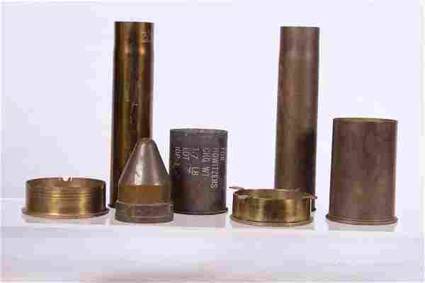 WWI & WWII SHELLS AND TRENCH ART etc.