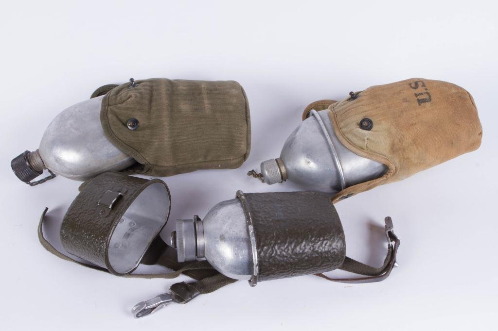 (2) WWI US CANTEENS AND (1) GERMAN CANTEEN/ CUP - 3
