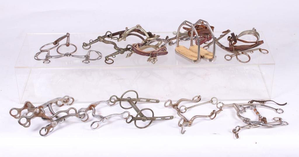 ASSORTMENT OF HORSE TACK AND SPURS