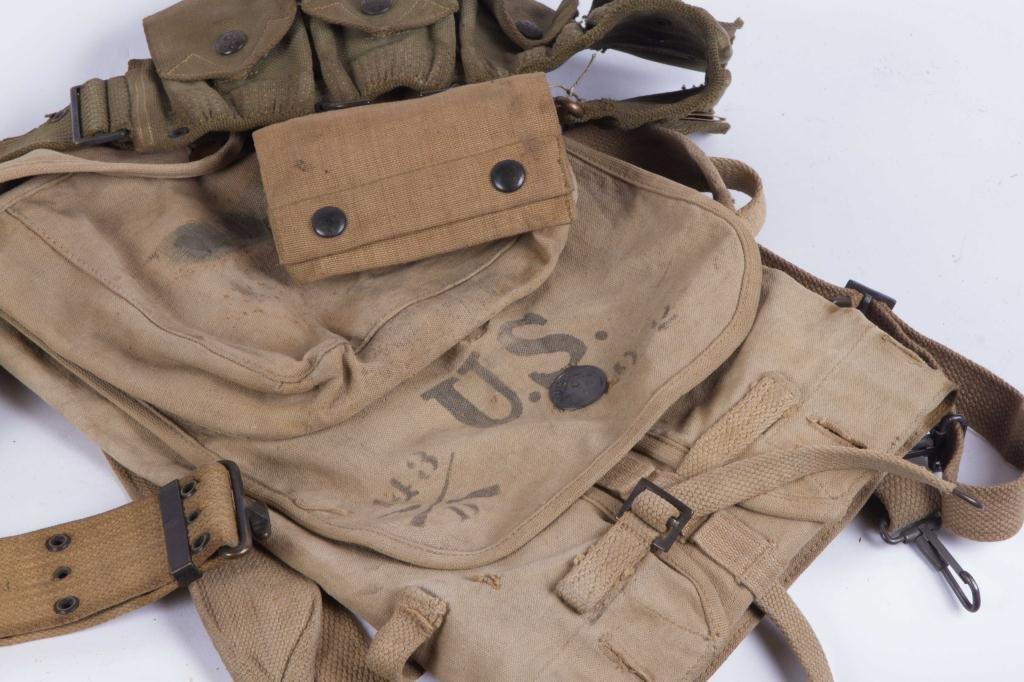 (3) US ARMY UTILITY BELTS, (2) CANVAS SATCHEL ETC - 2