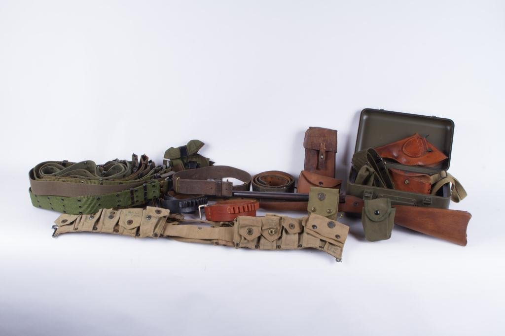 OVER (30) US MILITARY, UTILITY & COMBAT BELTS ETC