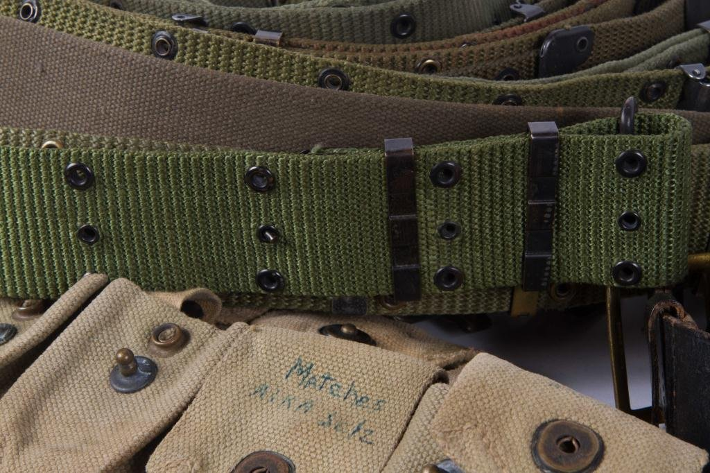 OVER (30) US MILITARY, UTILITY & COMBAT BELTS ETC - 5