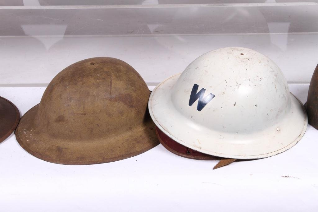 (5) WWII ERA HELMETS and (3) WWI HELMETS - 4