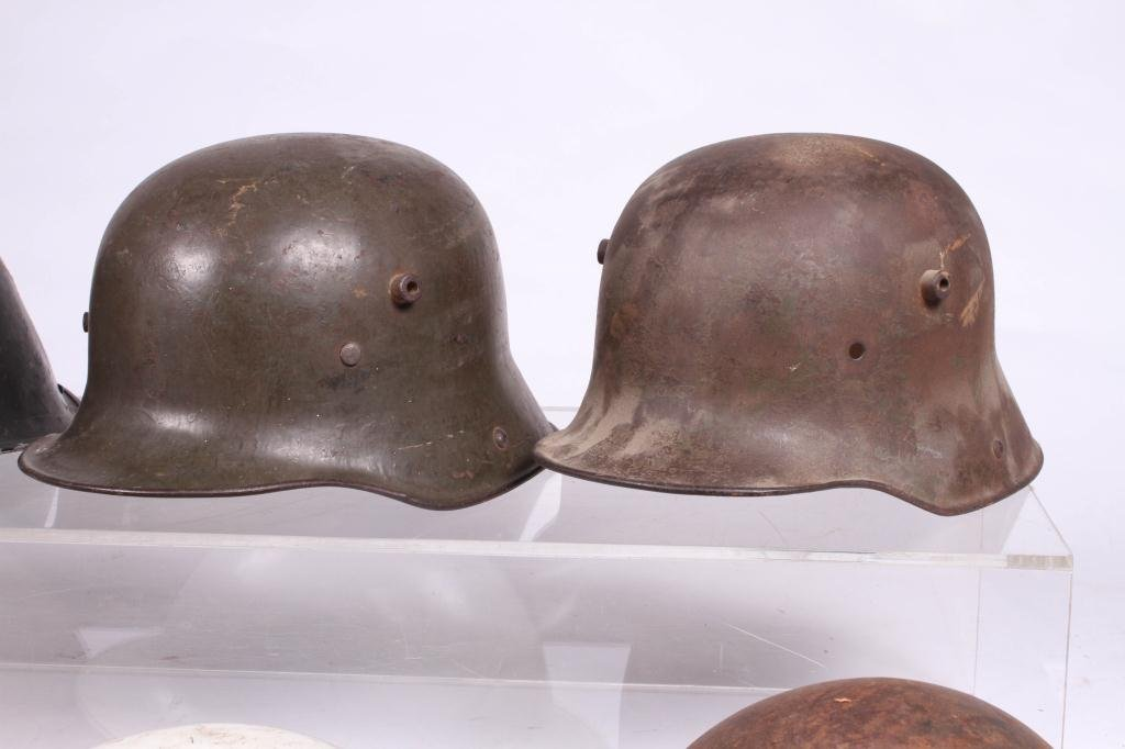 (5) WWII ERA HELMETS and (3) WWI HELMETS - 5