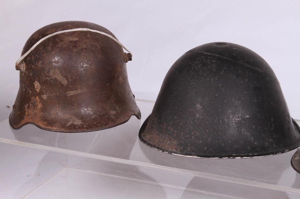 (5) WWII ERA HELMETS and (3) WWI HELMETS - 6