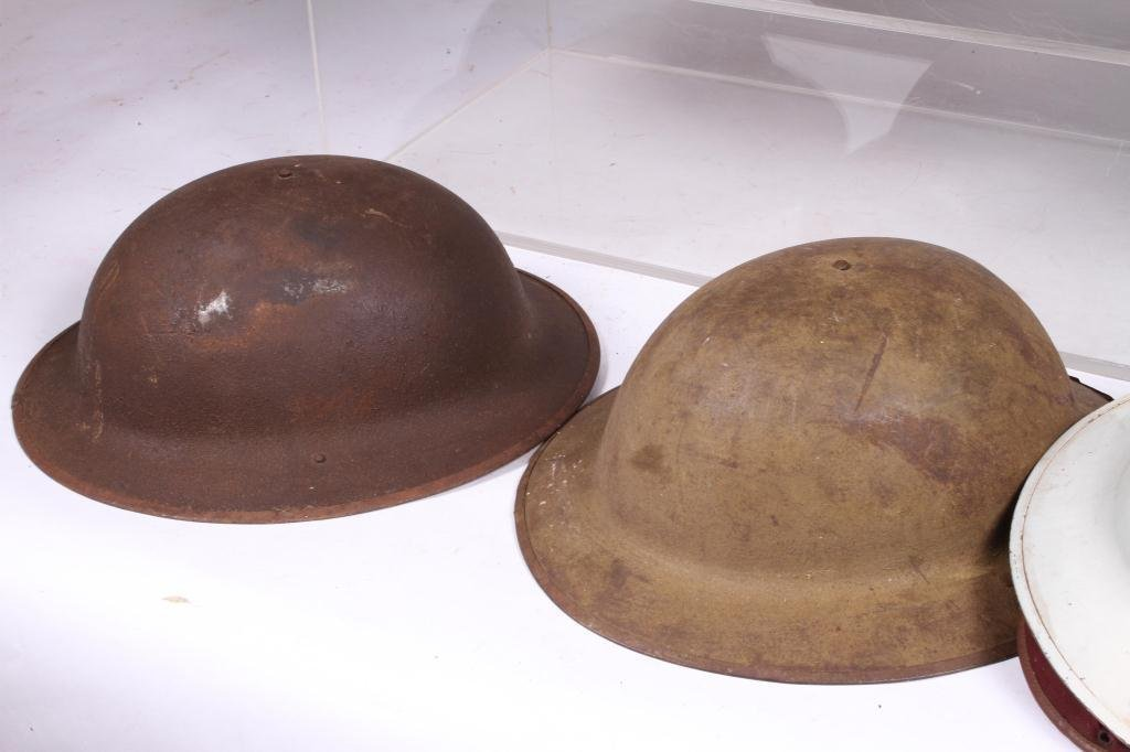 (5) WWII ERA HELMETS and (3) WWI HELMETS - 7