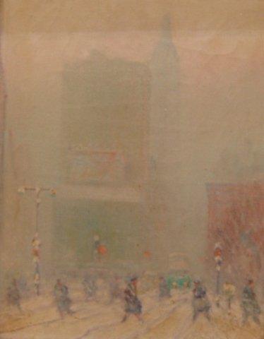 "1: Johann Berthelsen (1883-1969), ""NYC in Winter with m"