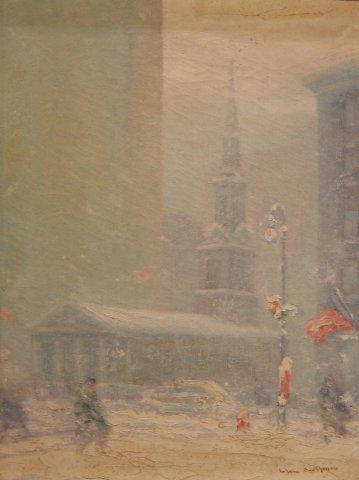 "2: Johann Berthelsen (1883-1969), ""NYC in winter with C"