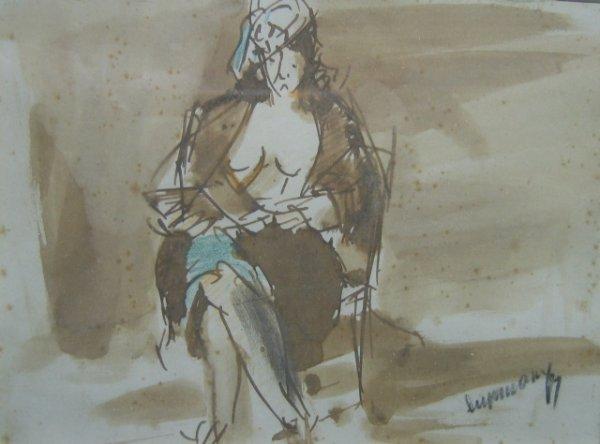 "12: Rafael Durancamps (1891-1979) ""Seated woman"" w/c 4."