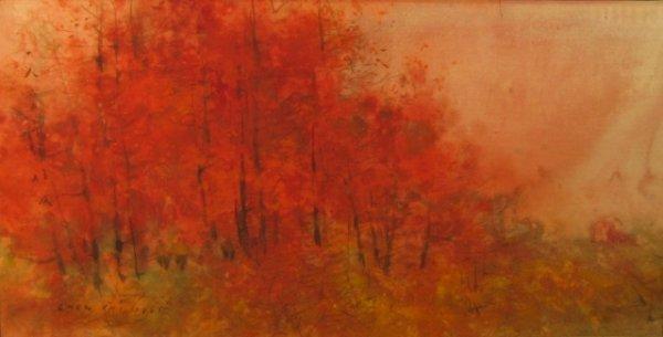 "13: Chen Chi (b.1912) ""Fall landscape"" mixed media w/c"
