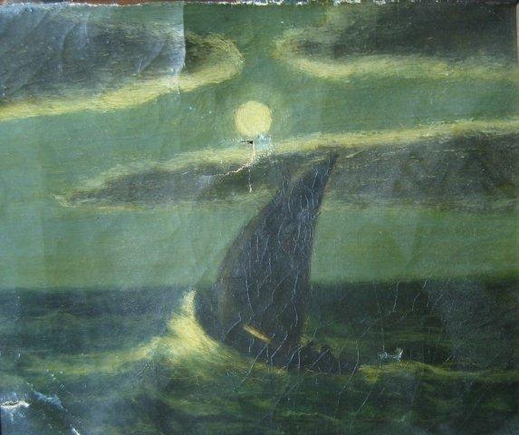"188: Albert Pinkham Ryder (1847-1917) attributed ""Ship"