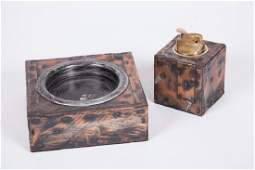 PAUL EVANS ASHTRAY AND LIGHTER