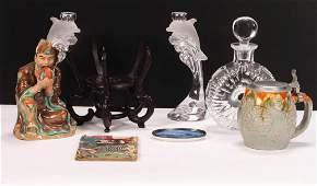DISCOVORY LOT OF GLASS CERAMICS ASIAN etc