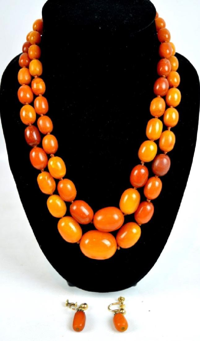 Old Butterscotch Amber Beads; total weight 80G