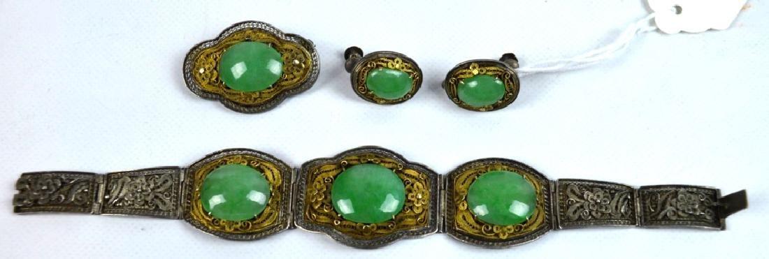 High Quality Chinese Natural Jadeite Jewelry Set