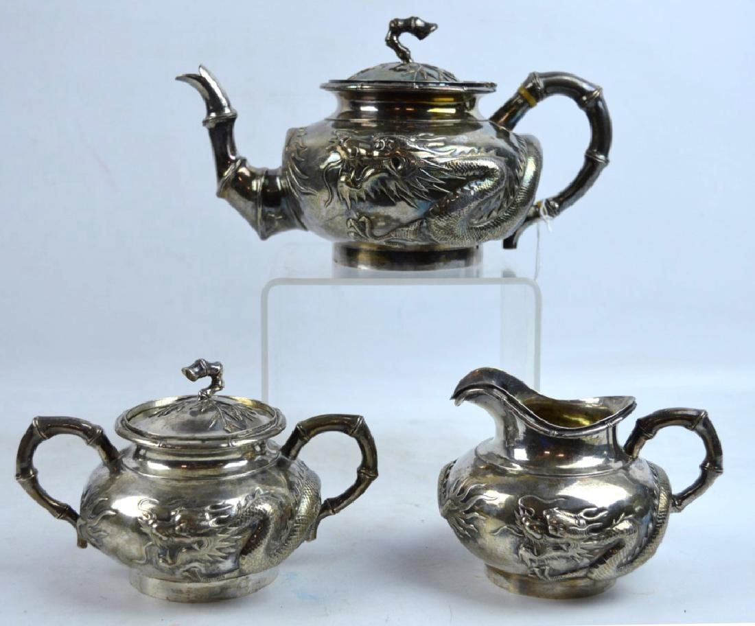 Woshing, Shanghai; Chinese Silver Teapot Set