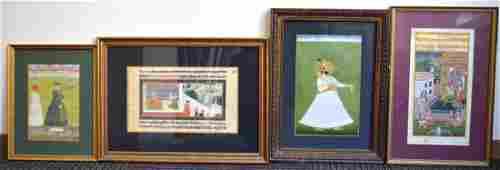 4 - Good Mughal or Indian Miniature Paintings