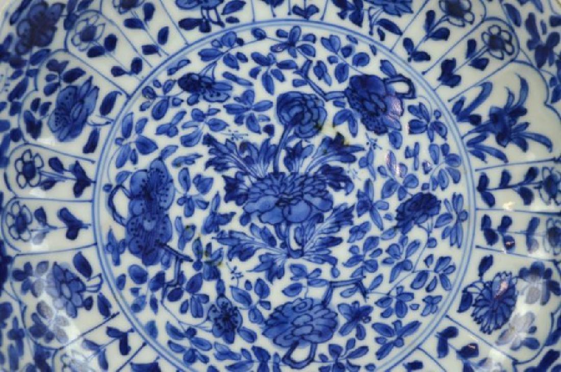 Pair Chinese Kangxi B & W Porcelain Plates - 3
