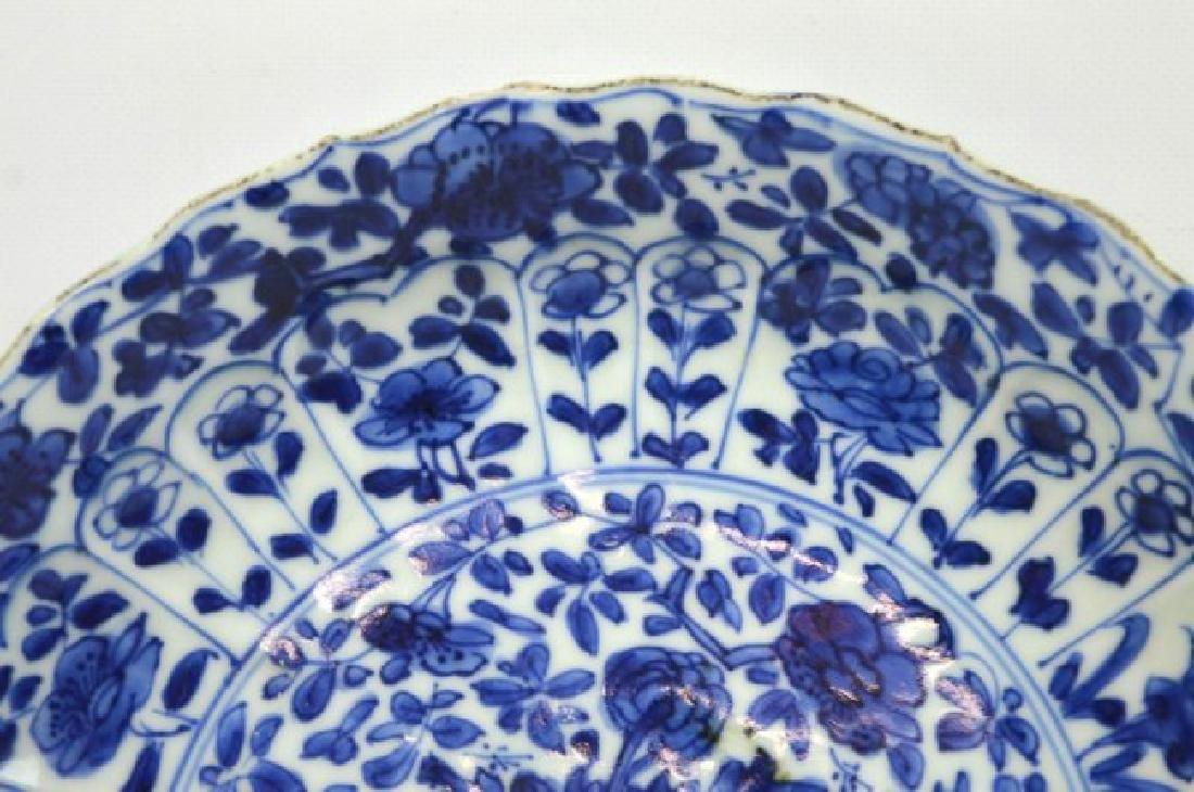Pair Chinese Kangxi B & W Porcelain Plates - 4