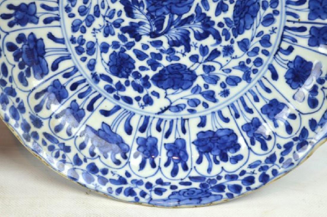 Pair Chinese Kangxi B & W Porcelain Plates - 5