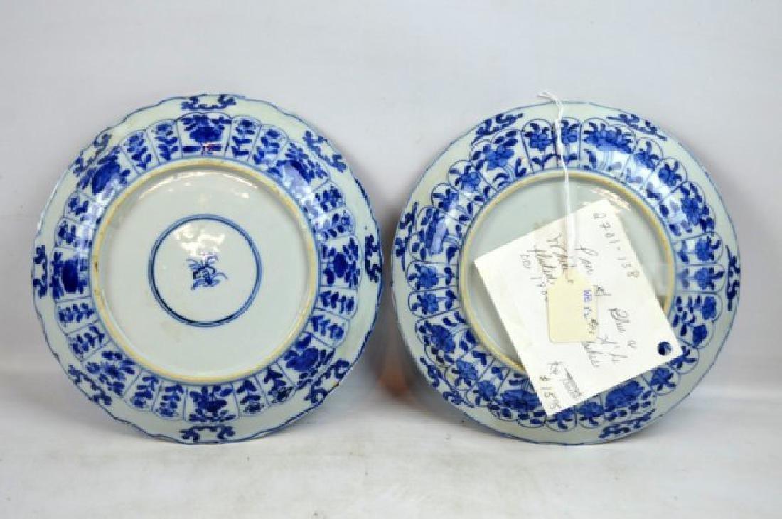 Pair Chinese Kangxi B & W Porcelain Plates - 6