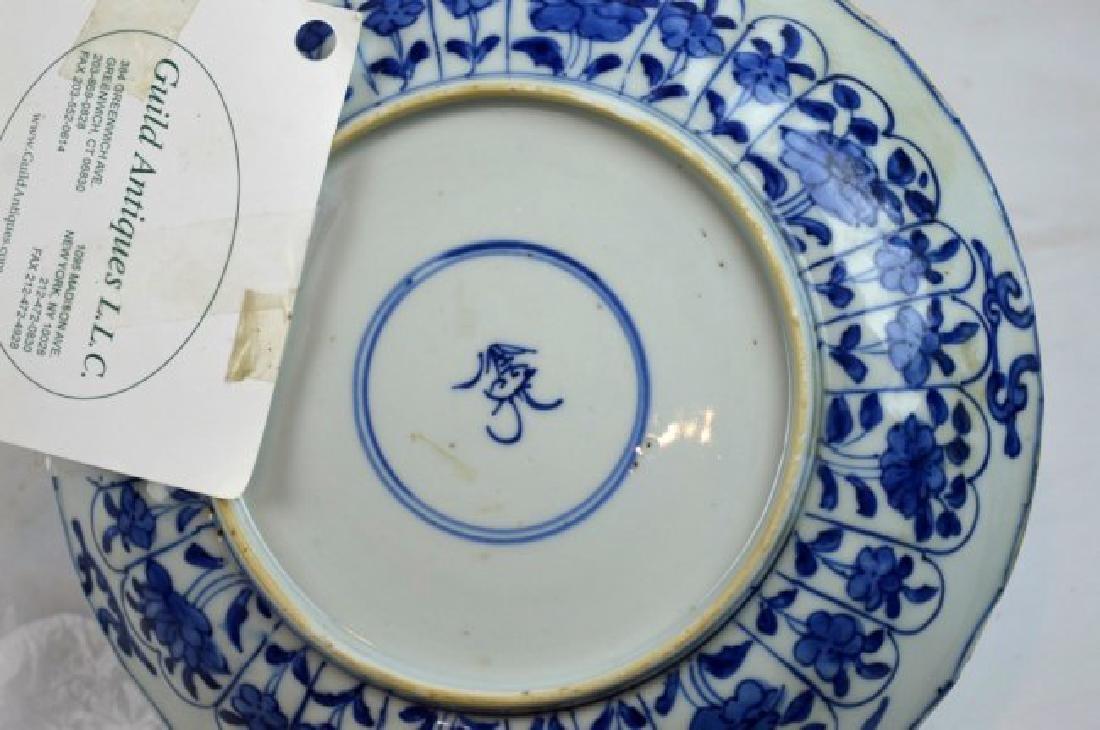 Pair Chinese Kangxi B & W Porcelain Plates - 8