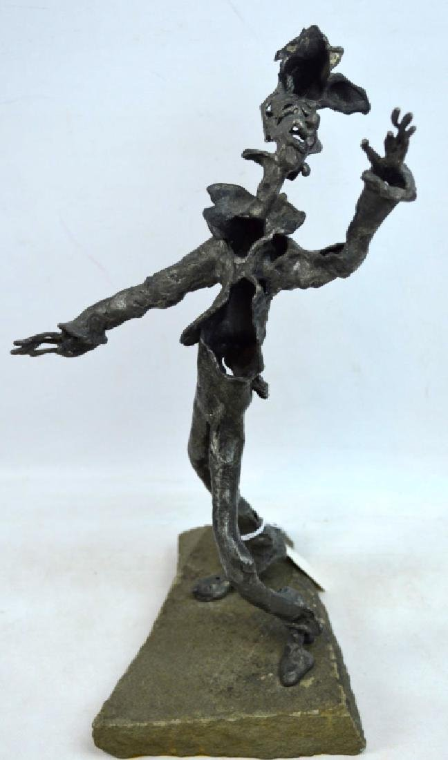 """Norman Rabinowitz, NJ; Metal Sculpture, """"Singer"""""""