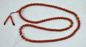 108 Bead Dark Coral Rosary; Total Weight 62.5 G
