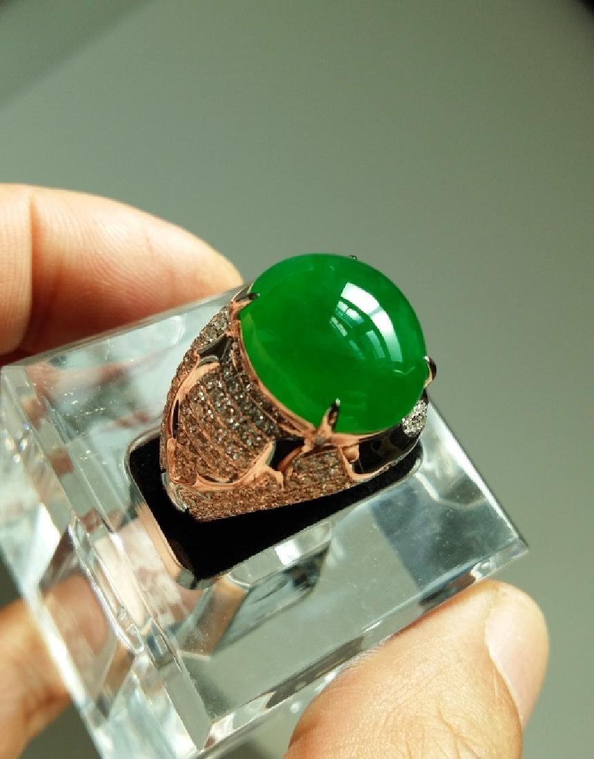 Imperial Green Jadeite Jade Gentleman Ring.
